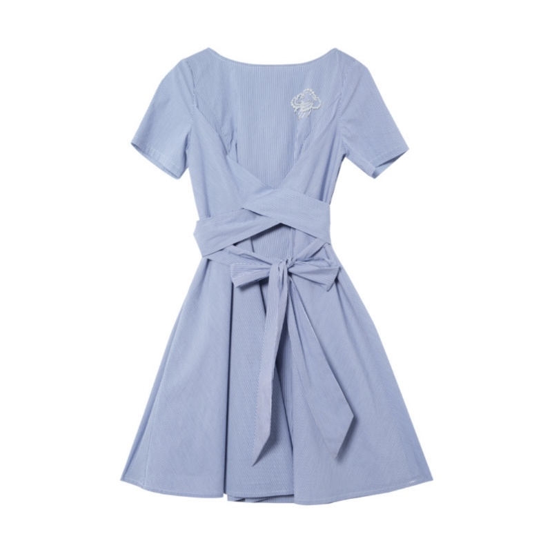 dress Dresses Women 39 s Clothing Large size women 39 s dress new spring dress was thin waist stripe female in Dresses from Women 39 s Clothing