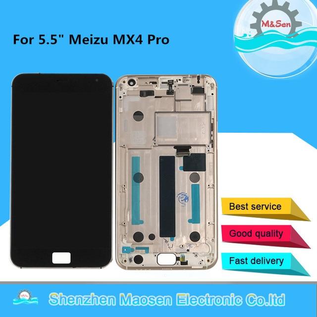 """5.5 """"Getest M & Sen Voor Meizu MX4 Pro Lcd scherm + Touch Panel Digitizer Met Frame Voor meizu MX4 Pro Lcd Display"""