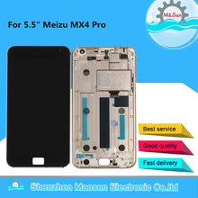 """5.5"""" Tested M&Sen For Meizu MX4 Pro LCD Screen Display+Touch Panel Digitizer With Frame For Meizu MX4 Pro Lcd Display"""