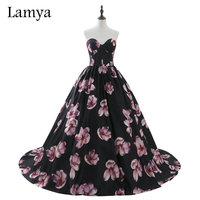 Lamya Real Photo Vintage Printing Wedding Dress 2017 Fashionable Stain Style Bridal Gown Elegant Vestido De