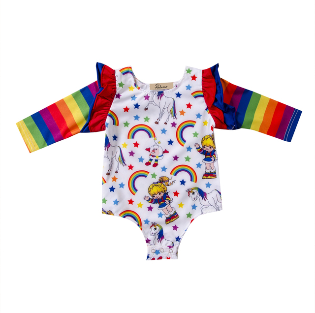 83c7d87372f3 Baby Clothing Newborn Toddler Baby Boy Girls Striped Colorful ...