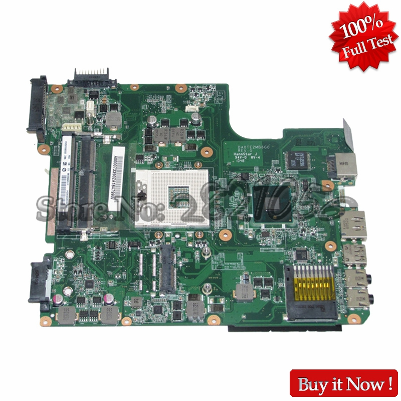 NOKOTION A000073390 DA0TE2MB6G0 Laptop Motherboard For Toshiba Satellite L640 L645 MAIN BOARD HM55 DDR3 nokotion sps v000138980 for toshiba satellite l300 l305d motherboard 216 0674024 ddr2 6050a2323101 mb a01