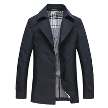 The new autumn 2016 Classic black leisure cultivate one's morality Paragraph dust coat grows in big yards