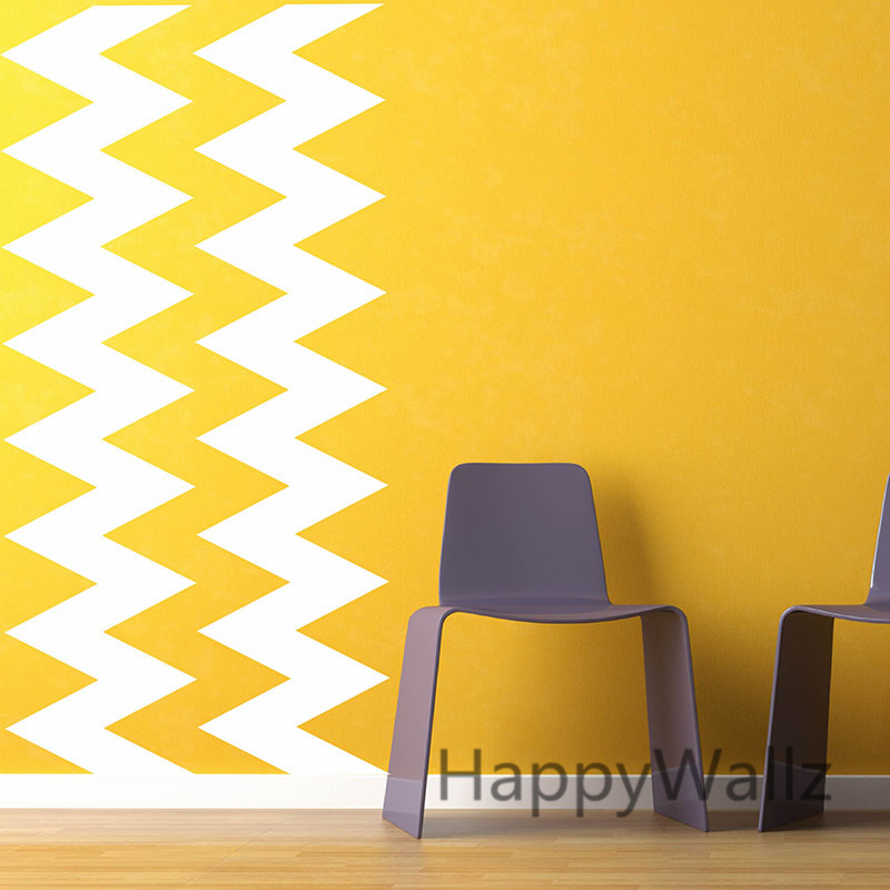 DIY Chevron Stripes Wall Stickers Decorative Chevron Wall Decals Modern Vinyl  Wall Art Chevron Mural Wallpaper P66 In Wall Stickers From Home U0026 Garden On  ...