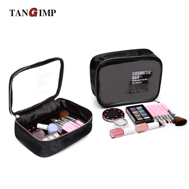 8233fea93a TANGIMP Transparent PVC Cosmetic Bags Women Beauty Case Waterproof Toiletry  Bags Travel Organizer Necessary Makeup Bag