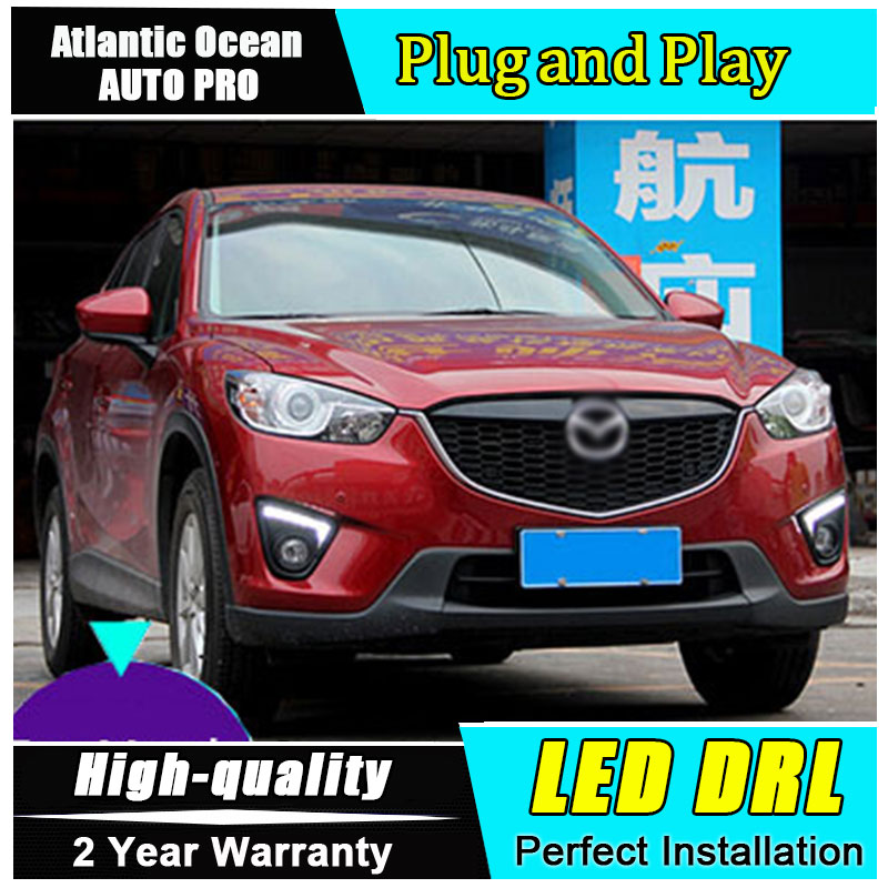 JGRT Car Styling for Mazda CX-5 LED DRL For CX-5 LED daytime running lights parking driving led fog lamp cover Accessories jgrt 2011 for nissan sentra fog lights led drl turnsignal lights car styling led daytime running lights led fog lamps