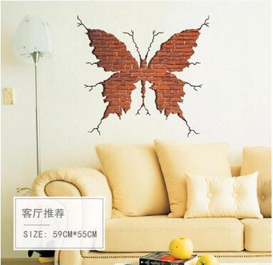 Online Get Cheap Red Butterfly Wall Sticker Aliexpresscom - Vinyl wall decals brick