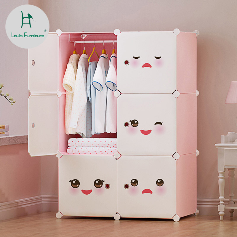 US $24.0 |Louis fashion Wardrobes Children\'s Cartoon Baby Receiver Economy  Simple Assembly Simple Modern Plastic-in Wardrobes from Furniture on ...
