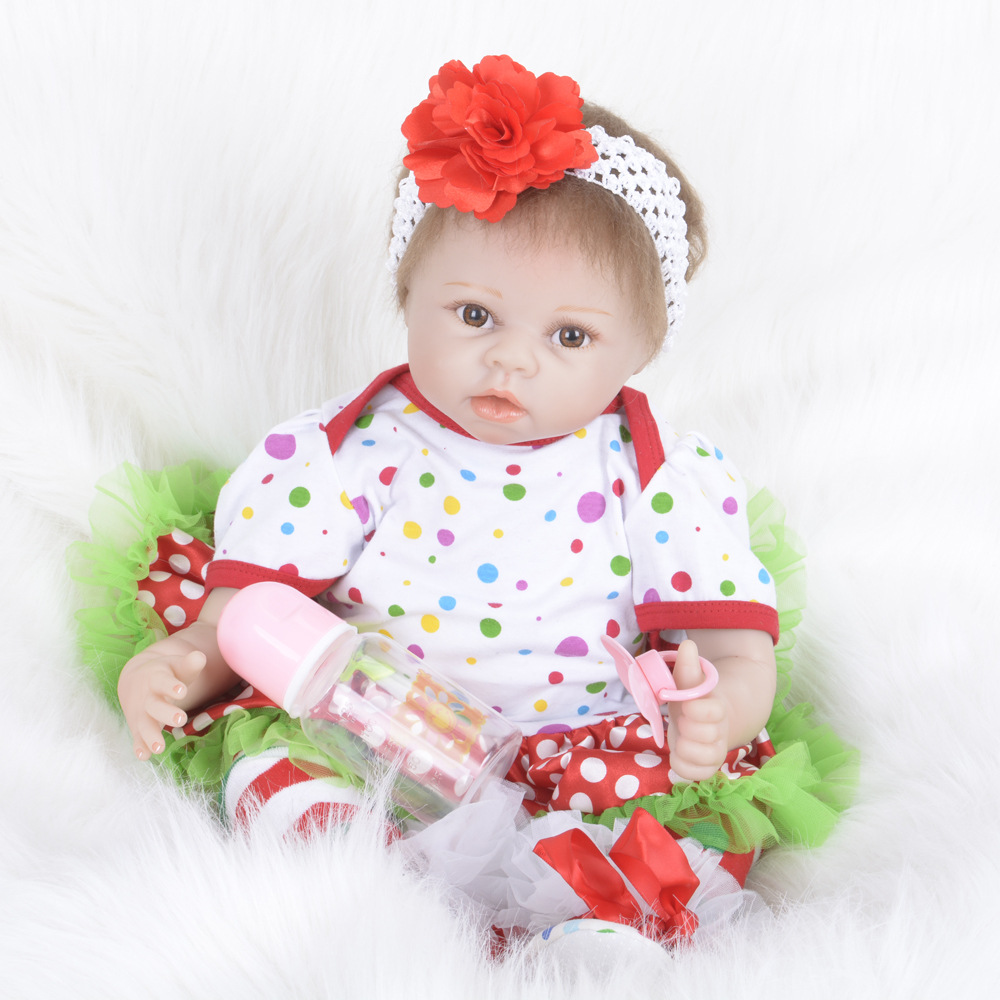 55cm Girls Doll Realistic Soft Silicone Babies Reborn Dolls Handmade Soft Vinyl Baby Toddler Dolls Toys for Children Kids Gift 60cm silicone reborn baby doll toys for children 24inch vinyl toddler princess girls babies dolls kids birthday gift play house