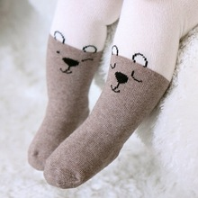 Cat Pattern Cotton Knitting Baby Girls Tights Cartoon Baby Tights For Girls Spring Style Soft Children