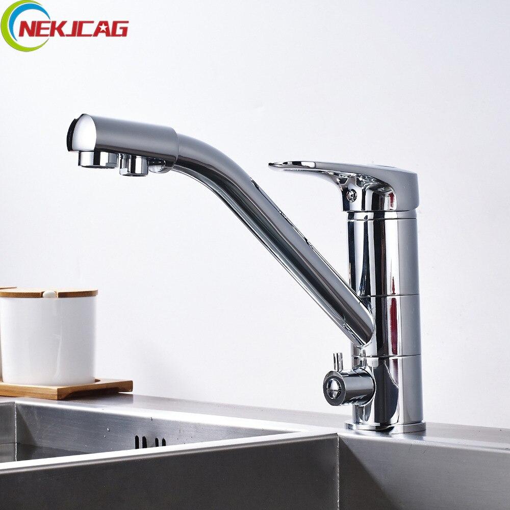 Здесь можно купить   Drinking Water Faucet Kitchen Sink Pure Water Faucet Dual Handle with Pure Water Pipe Строительство и Недвижимость