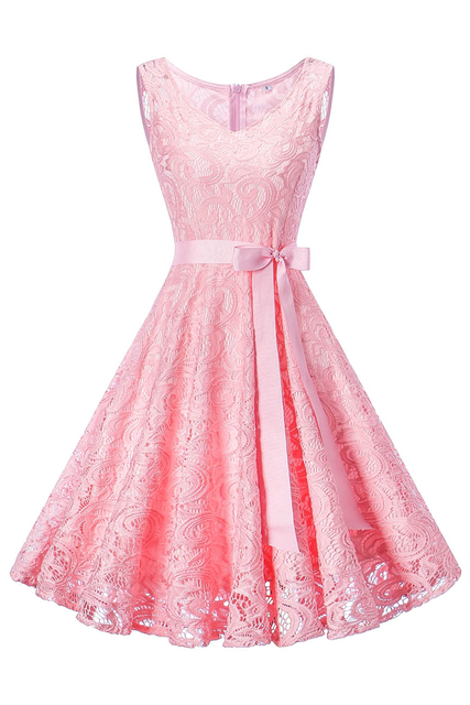 Robe de Soiree Courte Vintage Lace Evening Dress Short V Neck Evening Party Dresses with Sashes Vestido de Festa Curto