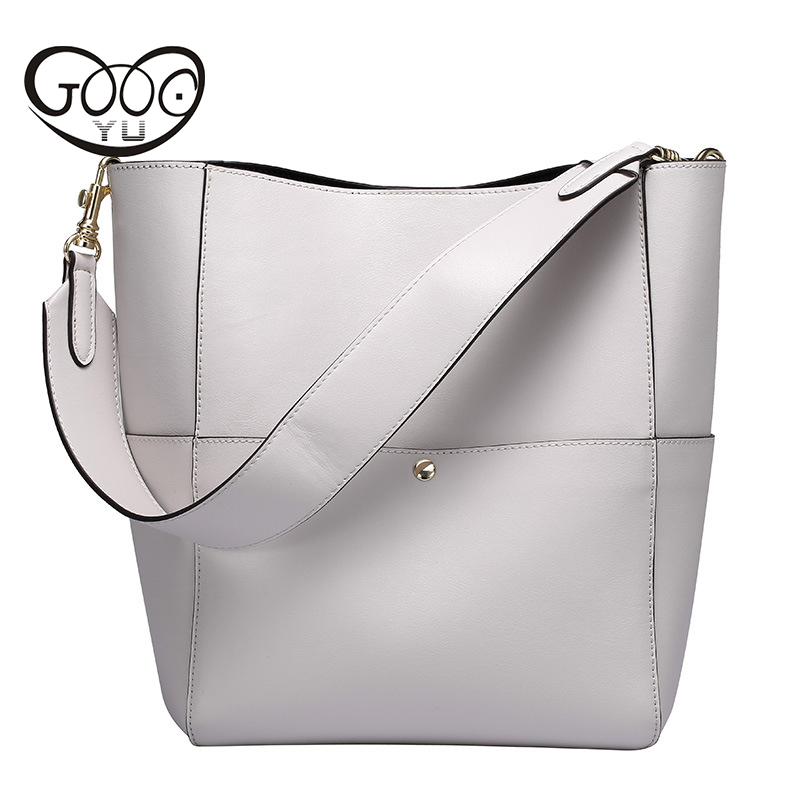 Women Handbag Genuine Leather Tote Shoulder Bag Bucket Ladies Purse Casual Shopping Bag Satchel Capacity Tote Bolsos Women Bag women handbags pumping bucket bag shoulder messenger bag cow leather ladies purse casual shopping bags satchel capacity tote