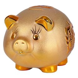 Lovely Ceramic Piggy Bank Home Decor Figurine Ornaments Money Saving Box Birthday Gifts