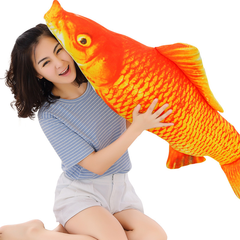 big creative plush red fish pillow stuffed carp design toy gift about 120cm 0450 домкрат винтовой ромбовидный big red t10152