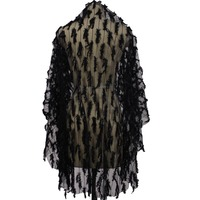 Black Fluffy Tulle Short Bridal Veil Winter Cover Face Wedding Veil WITHOUT Comb Voile Mariage