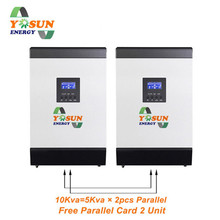 10Kva Solar Inverter Pure Sine Wave 8000W 120A MPPT Solar Charger 48Vdc 220Vac Inverter AC Charge With Free Parallel Card 500w 12vdc 220vac pure sine wave inverter without ac charge home inverter
