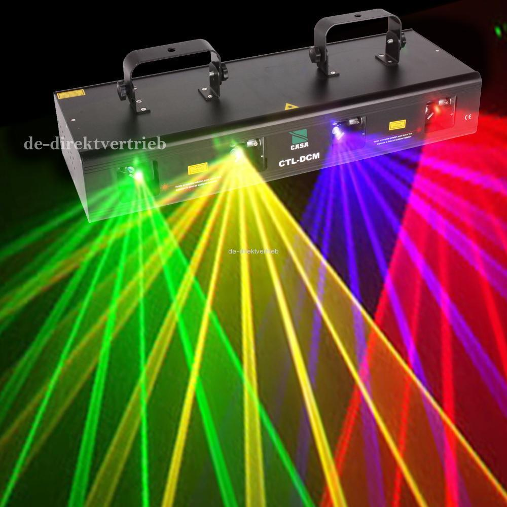 Fast Shipping!460mW Stage Effect Laser Lighting Disco Party Stage Light  DJ Club Light Show 4 Lens RGPY