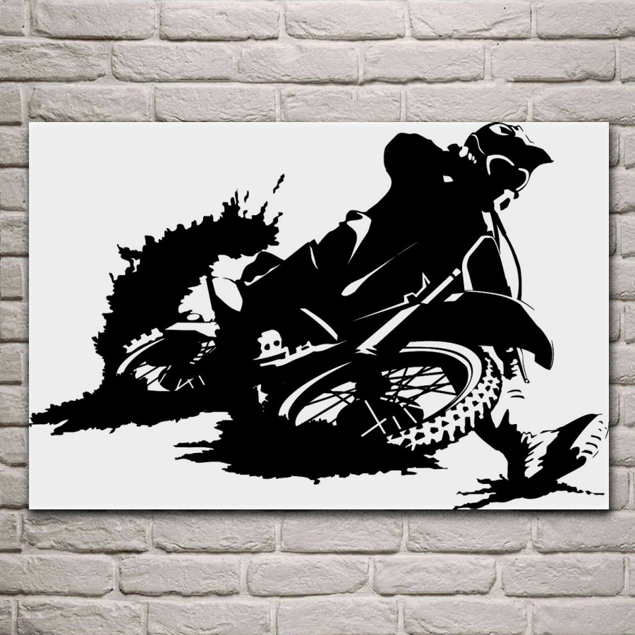 Dirt Cheap Home Decor: Dirtbike Motocross Moto Bike Extreme Motorbike Dirt KA289