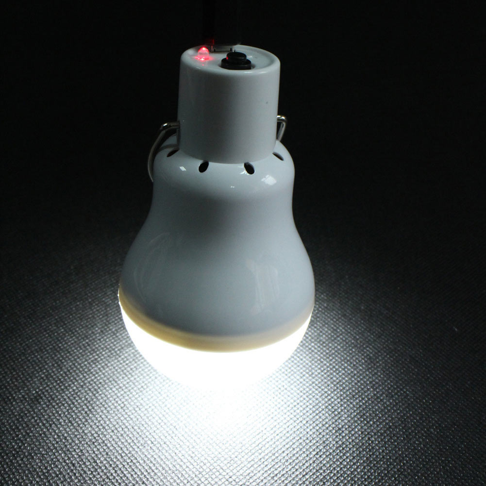 Portable 150lm 12 Led Solar Energy Charge Light Bulb Camping Emergency Lamp