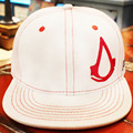 Hot Movie assassins creed Cosplay Cap Novelty cartoon white red assassins creed syndicate mans charms Costume Props Baseball cap