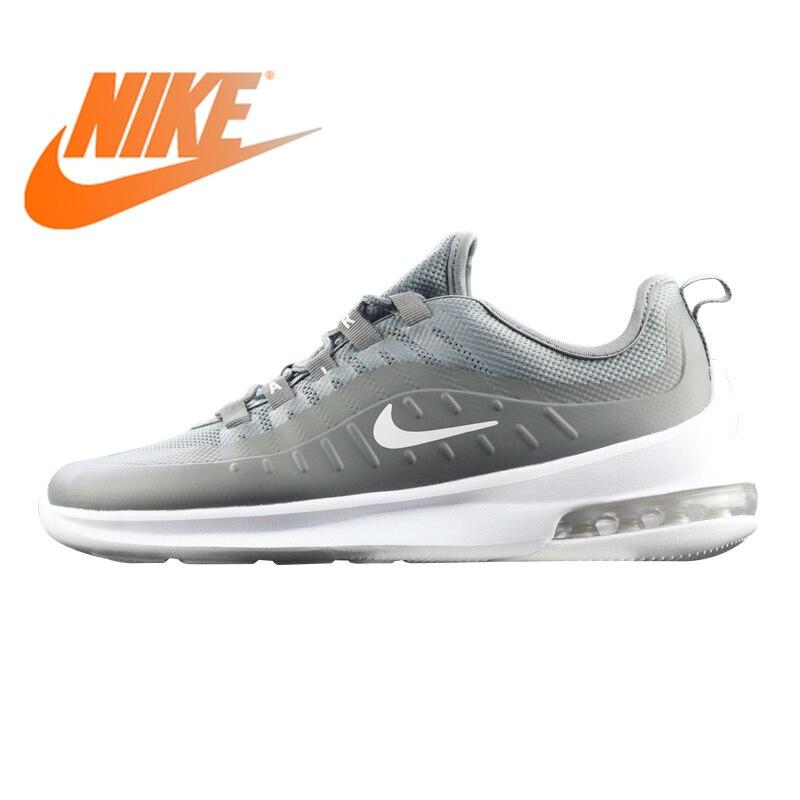 Original authentique Nike Air Max Axis chaussures de course hommes gris/noir amortisseur résistant à l'usure léger AA2146 respirant