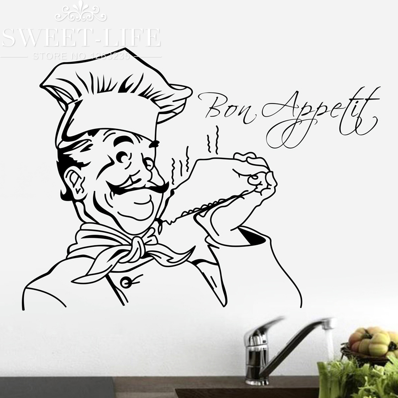 shipping gourmet chef abstraction wall stickers home decor wall decor wall art wall decor wall stickers shopclues