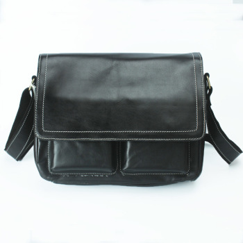 Men's First Layer Leather Business Men's Handbag Briefcase Shoulder Messenger Bag