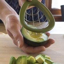 Большая, из нержавеющей стали инструмент для нарезки фруктов авокадо слайсер разделители резка для манго нож кухонный салат авокадо инструмент для кубиков