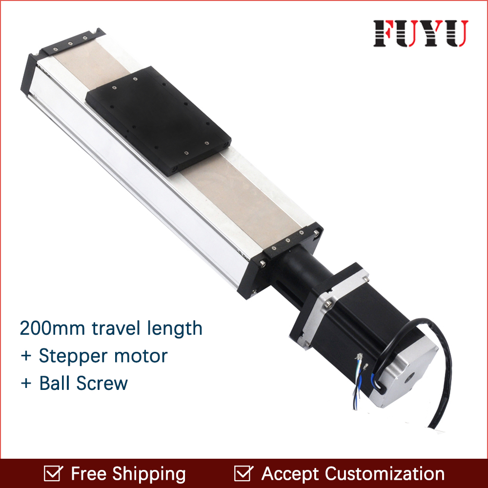 Free shipping Fuyu Brand 200mm stroke Horizontal Or Vertical Usage Linear Guide Price For Cnc Machine new md614698 idle air control valve speed stabilizer for mitsubishi galant 2 4l