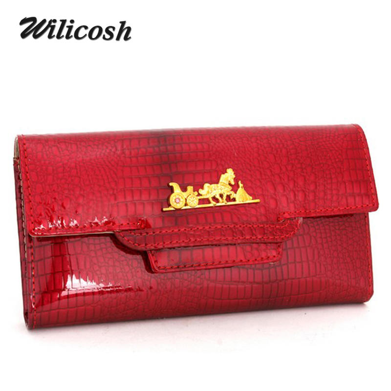 Wilicosh 100% Cowhide Leather Women Wallet Phone Pocket women's Purse Female Card Holder Lady Clutch Carteira Feminina WL417