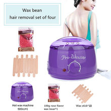 500C SPA Hand Epilator Feet Electric Wax Warmer Machine Hot Paraffin Wax Warmer Heater Body Salon SPA Hair Removal with Wax Bead(China)