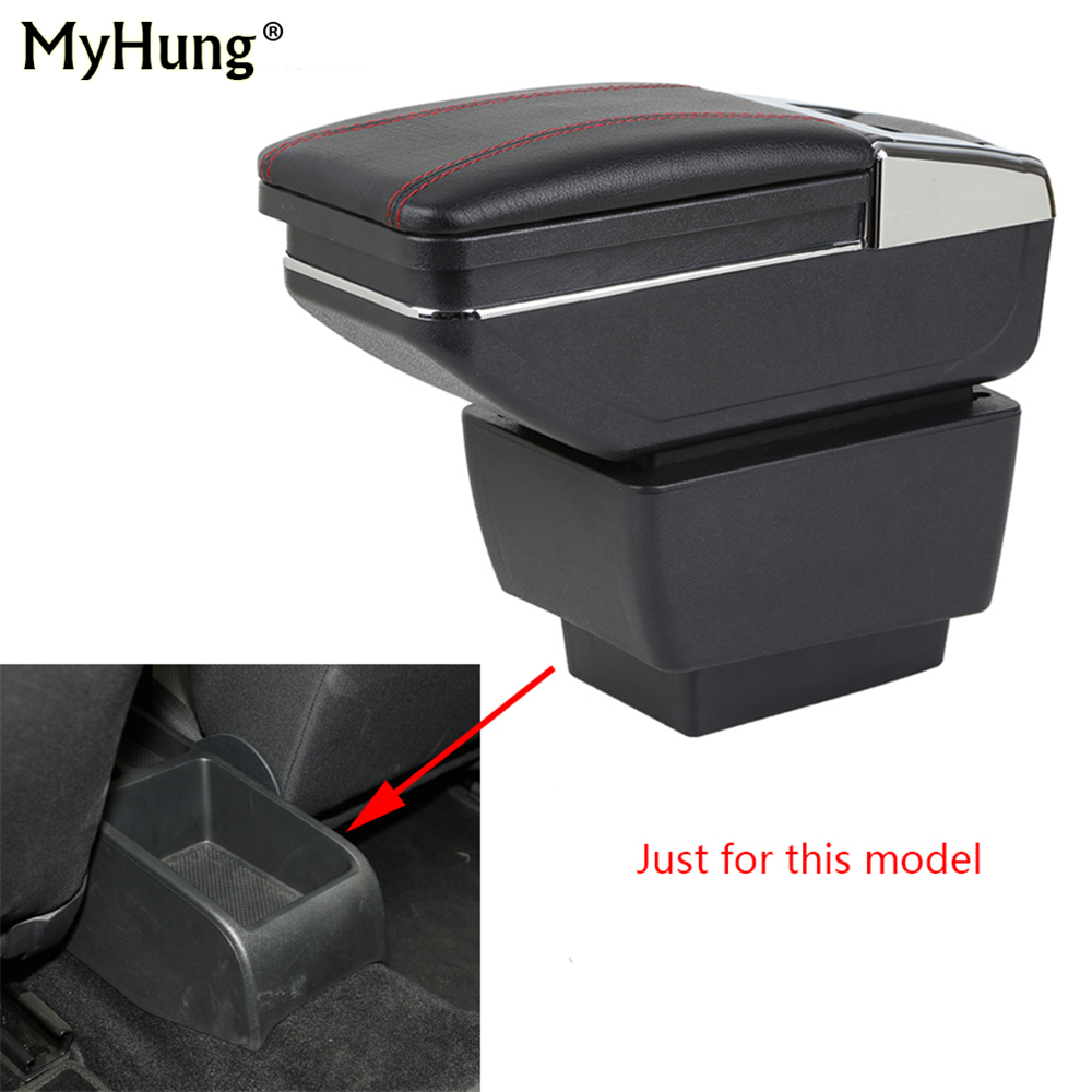Car Console Armrest Box For Skoda Octavia A7 2015 2016 2017 2018 Central Storage Box With Cup Holder Ashtray Rotatable Auto Part free shipping multi wireless radio wave signal rf gsm device spy pinhole hidden camera lens sensor scanner detector finder cc308