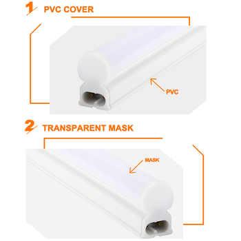 6Packs 220V 240V LED Tube T5 T8 Light 6W 10W LED Fluorescent Tube Wall Lamp Bulb 30/60cm Led Integrated Tube Cold White