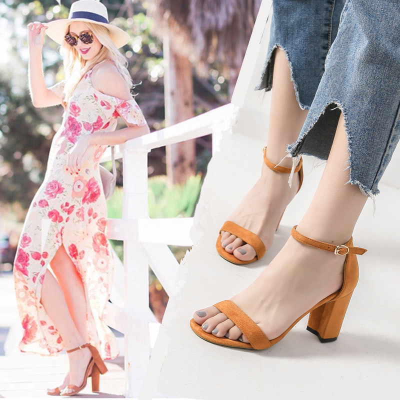 Shoes Woman Sandals Women 2017 Summer Fashion Ankle Strap High Heels Shoes Peep Toe Woman Gladiator Sandals for Ladies Black/Red