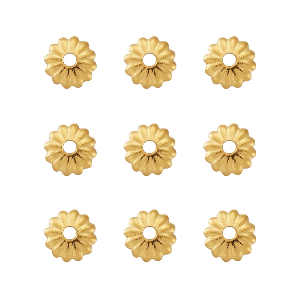 PandaHall 10g/300pcs 5x1.5mm Iron Flower Bead Caps Metal Jewelry Findings Accessories Component Wholesale Discount Hot Product