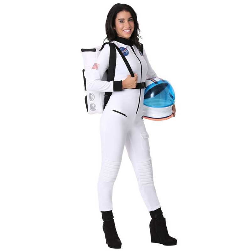นักบินอวกาศใหม่คอสเพลย์เครื่องแต่งกายหมวกนิรภัยสำหรับผู้ใหญ่ Spacesuit Universe Star PARTY เสื้อผ้า Performance Props ฮาโลวีนสำหรับผู้หญิง