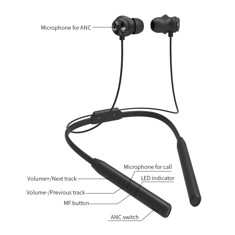 Bluedio TN2 Sports Bluetooth earphone with active noise cancelling /Wireless Headset for phones and music 4