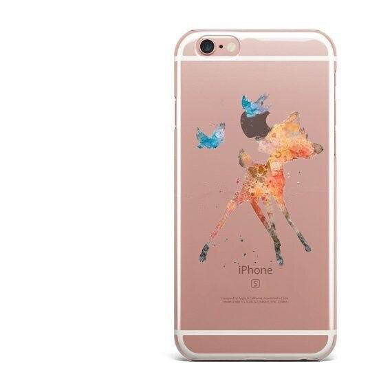 Watercolor Art Mulan Princess Soft Clear TPU Case for iPhone 7 7Plus 6s 6 5s 6S Plus