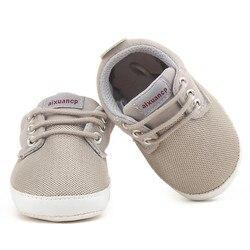 Bebê recém-nascido menino sapatos primeiros caminhantes primavera outono bebê menino macio sola sapatos infantis lona berço 0-18 meses