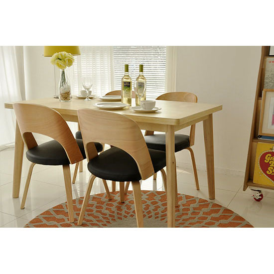 Scandinavian Modern Style Furniture Dodge Japanese Restaurant 1400 Birch  Stylish Dining Chairs Small Apartment Suite