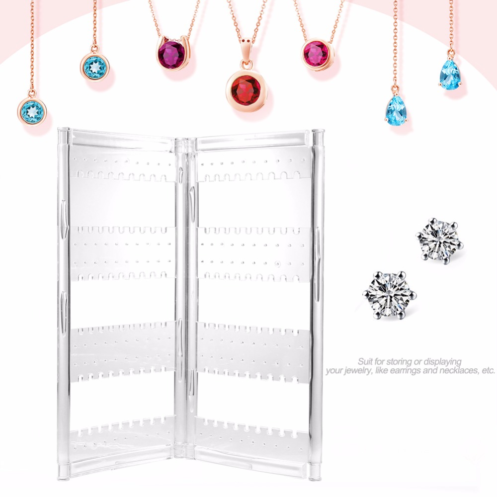 120 Holes Clear Display Rack Stand Earrings Organizer Necklace Jewelry Stand Holder Storage Case Women Jewelry Storage Rack european household jewelry storage display stand