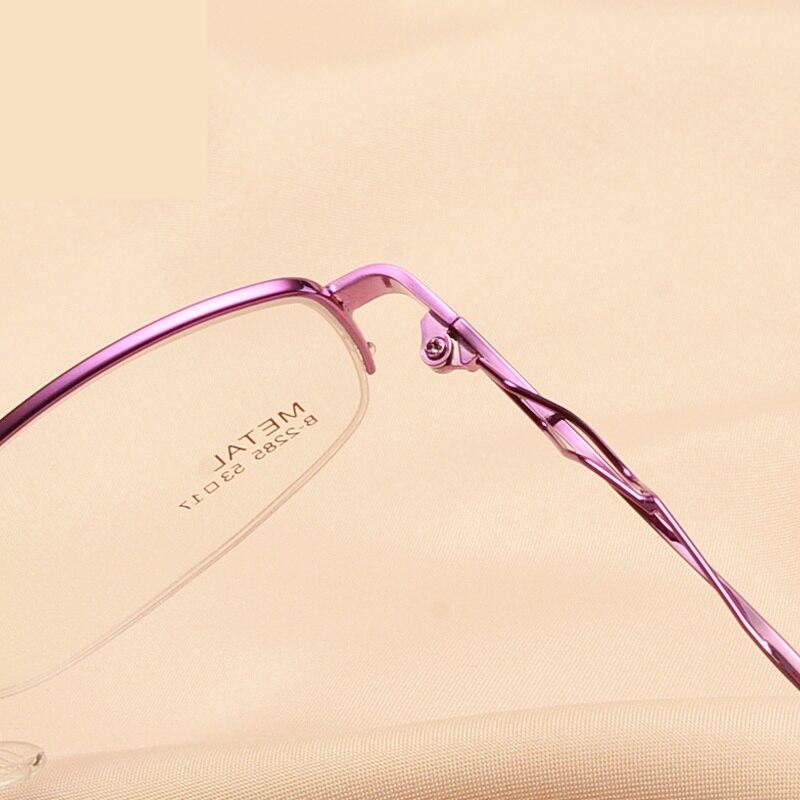 Marcos para las mujeres mitad gafas óptico hueco tallado gafas mujer ...