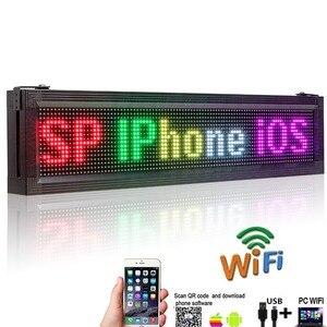 Image 3 - P10 наружный водонепроницаемый RGB полноцветный светодиодный дисплей бренда Wifi + USB Программируемый прокручивающийся информационный SMD СВЕТОДИОДНЫЙ знак