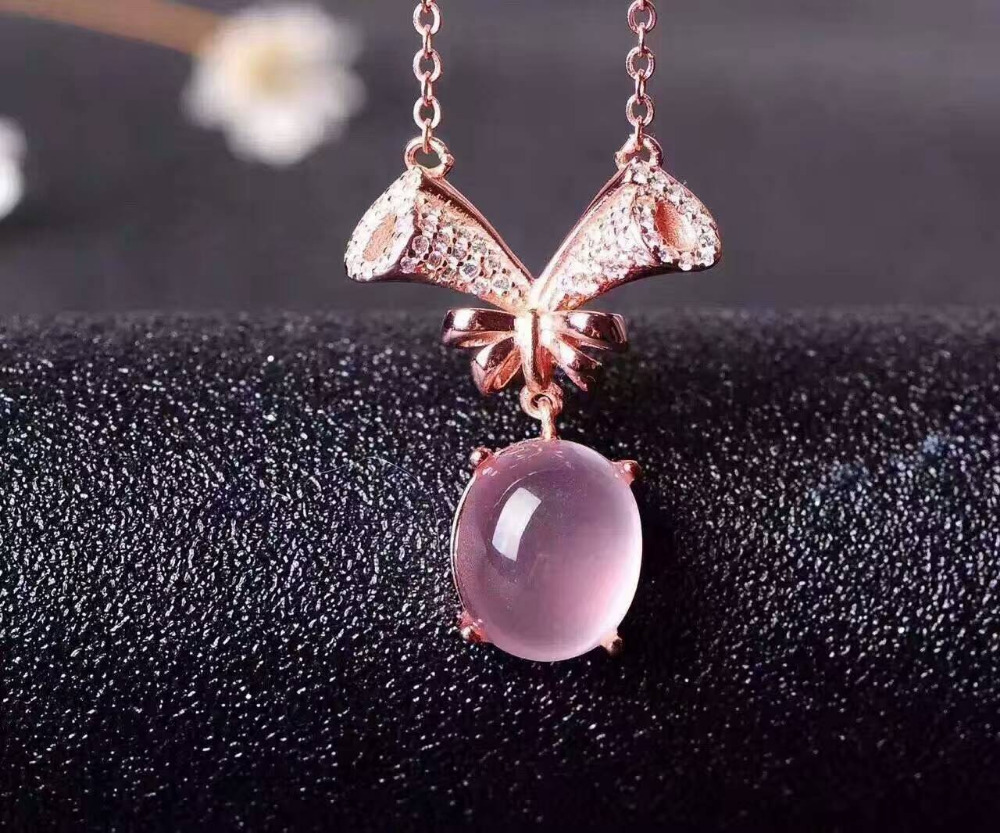Natural rose quartz Necklace natural pink crystal Pendant Necklace S925 silver Fashion luxurious  tree branches women  JewelryNatural rose quartz Necklace natural pink crystal Pendant Necklace S925 silver Fashion luxurious  tree branches women  Jewelry