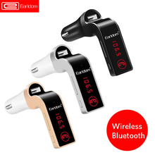ФОТО earldom 4-in-1 hands free wireless bluetooth fm transmitter g7 + aux modulator car kit mp3 player sd usb lcd car accessories