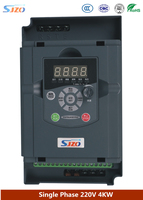 SJZO Water Pump Motor Speed Governor Frequency Inverter 1 Phase 220V Input 4KW VFD High Performance AC Frequency Converter