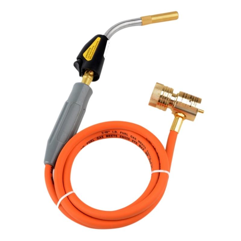 Braze Welding Torch Self Ignition 1.5M Hose Cga600 Connection Gas Torch Hand Propane Mapp TorchBraze Welding Torch Self Ignition 1.5M Hose Cga600 Connection Gas Torch Hand Propane Mapp Torch
