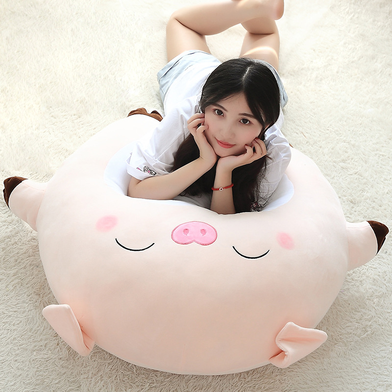25cm Cartoon Expression Pig Figurine Cute Cute Pink Pig Plush Toy Cloth Pillow Children Cartoon Creative Gift Toy