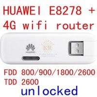 Unlocked Huawei E8278 E8278 602 4G wifi modem + wifi router 150Mbps lte 4g mifi Modem lte 4g wireless Dongle pk E3276 e8372